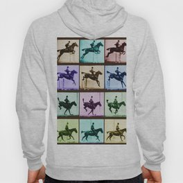 Time Lapse Motion Study Horse And Rider Color Hoody