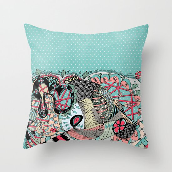 The eye looking flower Throw Pillow