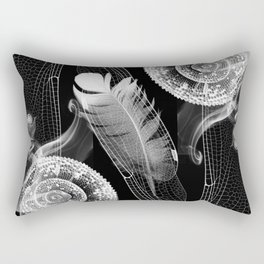 Feathering of a Whimsical Chameleon Rectangular Pillow