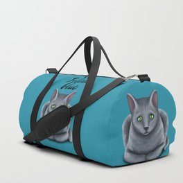Feline blue Duffle Bag