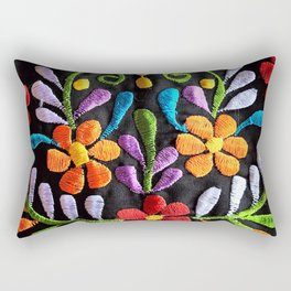Mexican Flowers Rectangular Pillow