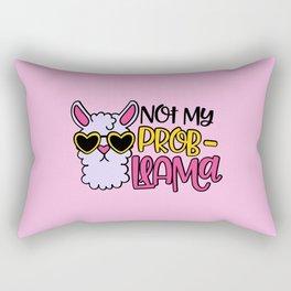Not My Prob-Llama, Cute Funny Quote Rectangular Pillow