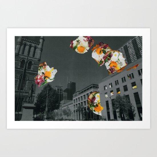 Food fantasy collage series #1 Art Print