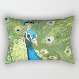 The Majestic Peacock Rectangular Pillow