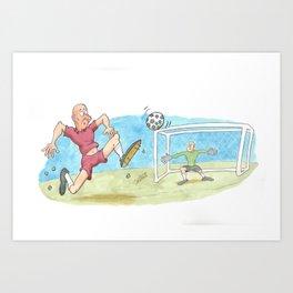 soccer Art Print