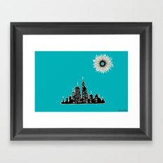 City Under Sun Framed Art Print