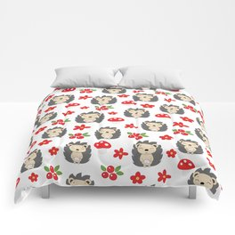 Cute hedgehogs Comforters