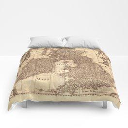Map Of Great Britain 1631 Comforters