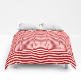 Australian Flag Red and White Wavy Chevron Stripe Comforters