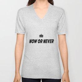 Now or Never Unisex V-Neck