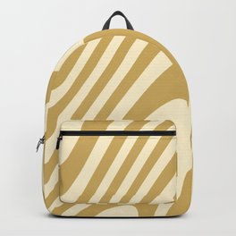 Golden Warm Zebra Grooves Abstract Pattern Backpack