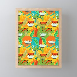 Watermelons and carrots Framed Mini Art Print
