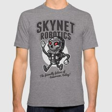 The Friendly Future LARGE Tri-Grey Mens Fitted Tee