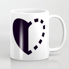 Micah Mason Foundation Heart - Black Coffee Mug