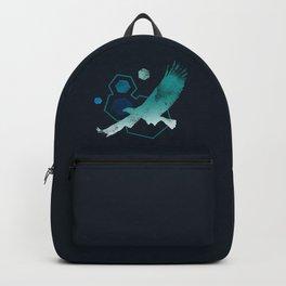 Geometric Eagle in Turquoise Backpack