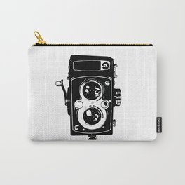 Big Vintage Camera Love - Black Carry-All Pouch