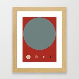 Mid Century Modern Vintage 14 Framed Art Print