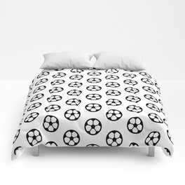 Simple Soccer Ball Motif Pattern Comforters