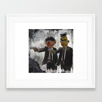 pulp Framed Art Prints featuring Pulp Street by Beery Method