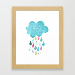 Happy cloud Framed Art Print