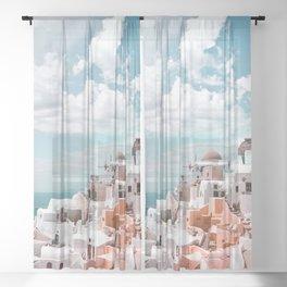 Santorini, Oia Sheer Curtain