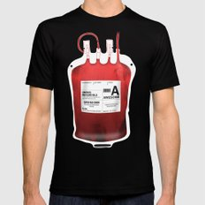 My Blood Type is A, for Awesome! *Classic* Mens Fitted Tee 2X-LARGE Black