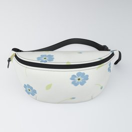 Forget me not pattern Fanny Pack