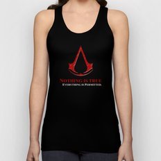 Assassin's creed nothing is true everything is permited iPhone 4 4s 5 5c, ipad, pillow case & tshirt Unisex Tank Top