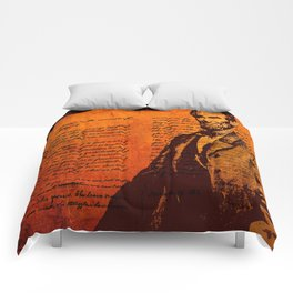 Abraham Lincoln and the Gettysburg Address Comforters