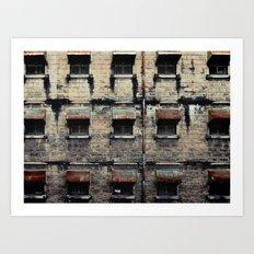 Facade of Neglect Art Print