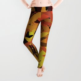 Marijuana Cannabis Weed Pot Autumn Theme Leggings