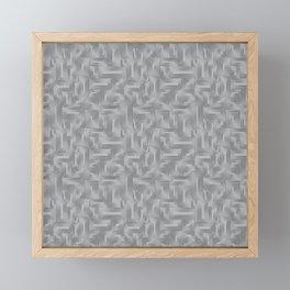 Kip and Flo in Grey on Grey Framed Mini Art Print