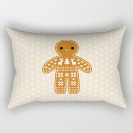 SWEATER PATTERN GINGERBREAD COOKIE Rectangular Pillow