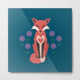 Spring Fox Metal Print
