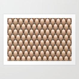 Brown Scallops Art Print