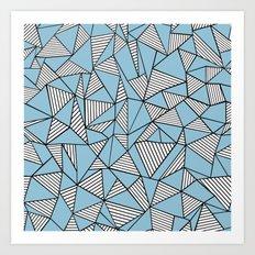Ab Blocks Blue #2 Art Print