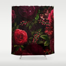 Mystical Night Roses Shower Curtain