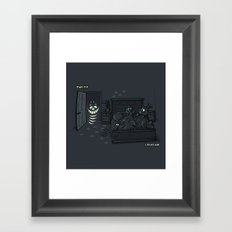 CHESHIRE ACTIVITY Framed Art Print