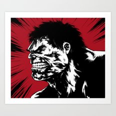 Hulk - Red Art Print