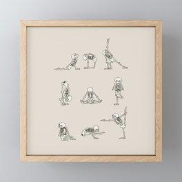Skeleton Yoga Framed Mini Art Print