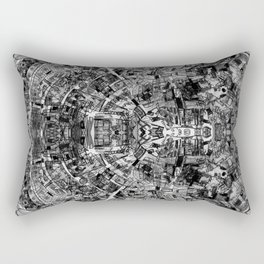 Mirrored Black and White Cityplan Rectangular Pillow