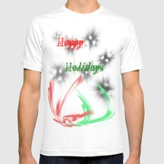 Happy Holidays Mens Fitted Tee MEDIUM White