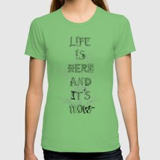 Life is there Grass X-LARGE Womens Fitted Tee