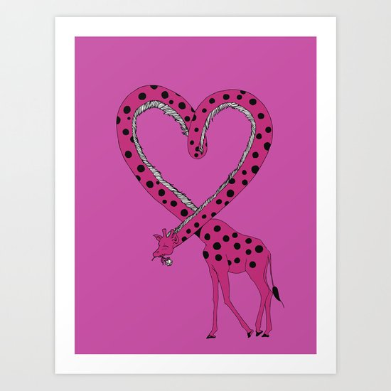 I'm in love Art Print
