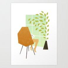 Mrs Claw Art Print