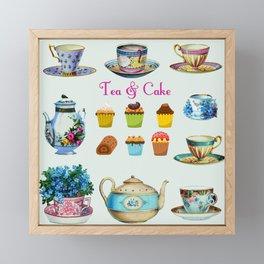 Tea & Cake Framed Mini Art Print