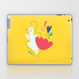 Abstract flower and leaves bouquet Laptop & iPad Skin