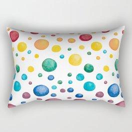 Rainbow Chakra Watercolor Circles Rectangular Pillow
