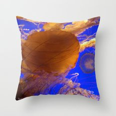 Amazing Jellyfish Throw Pillow