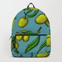 Mediterranean pattern - Olives 13 Backpack